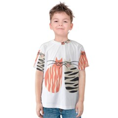 Two Lovely Cats   Kid s Cotton Tee