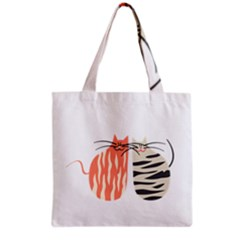 Two Lovely Cats   Grocery Tote Bag