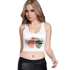 Two Lovely Cats   Racer Back Crop Top