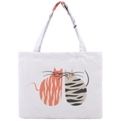 Two Lovely Cats   Mini Tote Bag