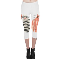 Two Lovely Cats   Capri Leggings