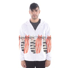 Two Lovely Cats   Hooded Wind Breaker (men)