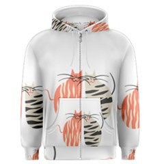 Two Lovely Cats   Men s Zipper Hoodie