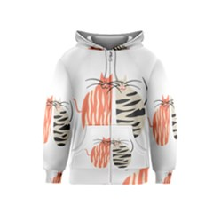 Two Lovely Cats   Kids  Zipper Hoodie