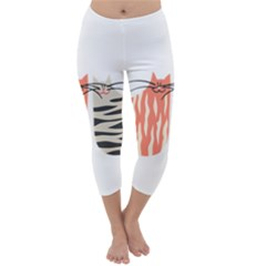 Two Lovely Cats   Capri Winter Leggings