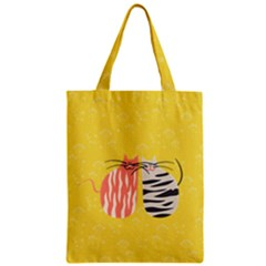 Two Lovely Cats   Zipper Classic Tote Bag