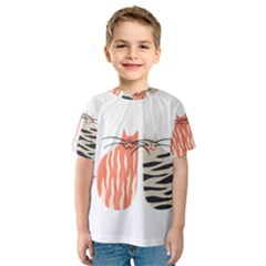 Two Lovely Cats   Kid s Sport Mesh Tee