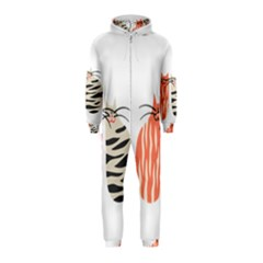 Two Lovely Cats   Hooded Jumpsuit (Kids)