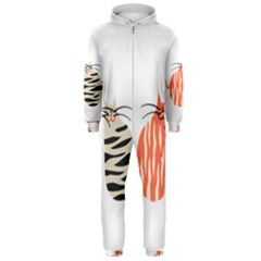 Two Lovely Cats   Hooded Jumpsuit (men)