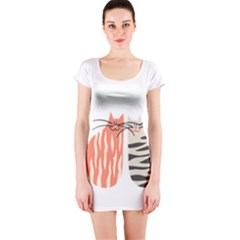 Two Lovely Cats   Short Sleeve Bodycon Dress