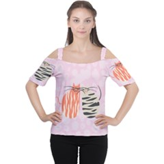 Two Lovely Cats   Women s Cutout Shoulder Tee