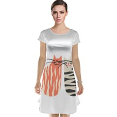 Two Lovely Cats   Cap Sleeve Nightdress