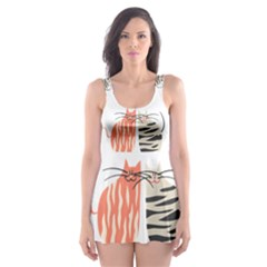 Two Lovely Cats   Skater Dress Swimsuit