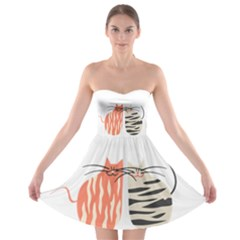 Two Lovely Cats   Strapless Dresses