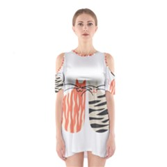 Two Lovely Cats   Cutout Shoulder Dress
