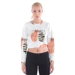 Two Lovely Cats   Women s Cropped Sweatshirt