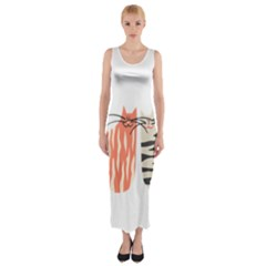 Two Lovely Cats   Fitted Maxi Dress