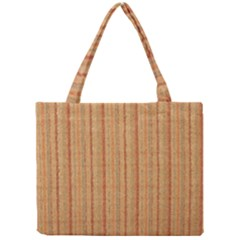 Elegant Striped Linen Texture Mini Tote Bag
