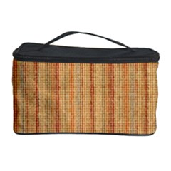 Elegant Striped linen texture Cosmetic Storage Cases