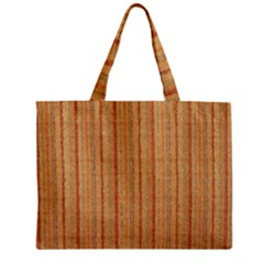 Elegant Striped linen texture Zipper Mini Tote Bag