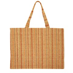 Elegant Striped linen texture Large Tote Bag