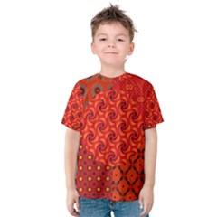 Throwback African Collage Print Kid s Cotton Tee