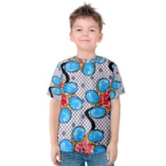 Vintage African Print Kid s Cotton Tee