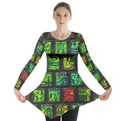 Colorful Buttons               Long Sleeve Tunic