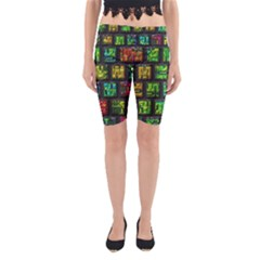 Colorful buttons               Yoga Cropped Leggings