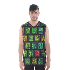 Colorful Buttons               Men s Basketball Tank Top