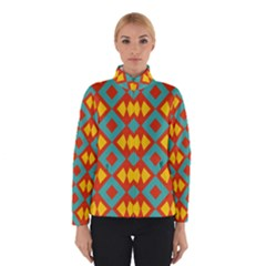 Blue rhombus pattern                Winter Jacket
