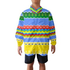 Colorful Chevrons And Waves                 Wind Breaker (kids)