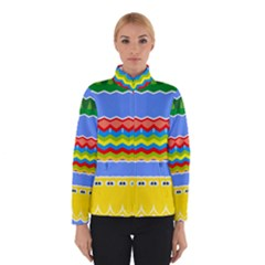 Colorful chevrons and waves                 Winter Jacket