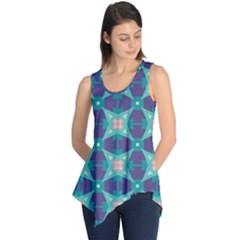 Blue stars pattern                  Sleeveless Tunic