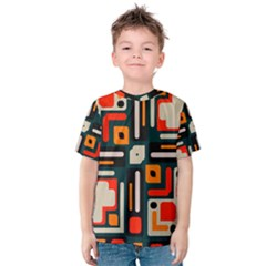 Shapes in retro colors texture                   Kid s Cotton Tee