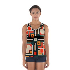 Shapes in retro colors texture                   Women s Sport Tank Top