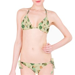 Tropical Garden Pattern Bikini Set