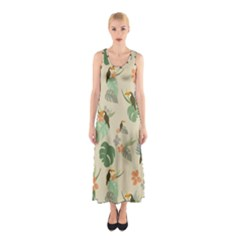 Tropical Garden Pattern Full Print Maxi Dress