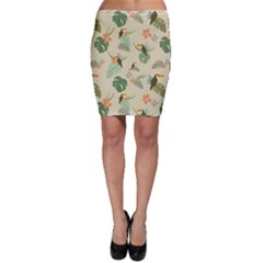 Tropical Garden Pattern Bodycon Skirts