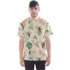 Tropical Garden Pattern Men s Sport Mesh Tee