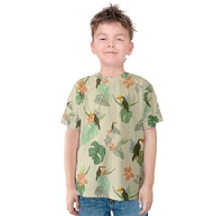 Tropical Garden Pattern Kid s Cotton Tee