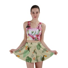 Tropical Garden Pattern Mini Skirts