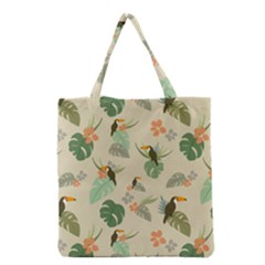 Tropical Garden Pattern Grocery Tote Bag