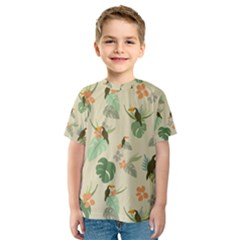 Tropical Garden Pattern Kid s Sport Mesh Tee