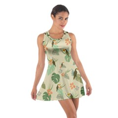 Tropical Garden Pattern Racerback Dresses