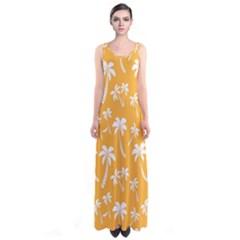 Summer Palm Tree Pattern Full Print Maxi Dress