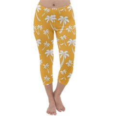 Summer Palm Tree Pattern Capri Winter Leggings