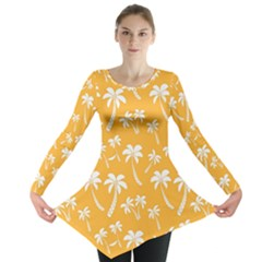 Summer Palm Tree Pattern Long Sleeve Tunic