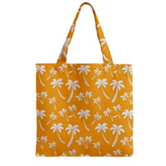 Summer Palm Tree Pattern Zipper Grocery Tote Bag
