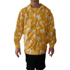 Summer Palm Tree Pattern Hooded Wind Breaker (Kids)